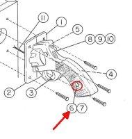 Fastener 02-4546 / 02-4547 / für diverse Gun Handles