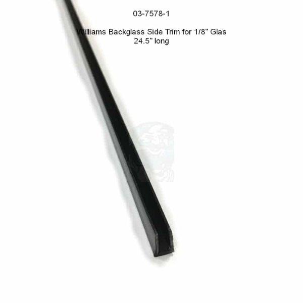 """Bally / Williams 1/8""""-Backglas Side Trim 24.5"""" lang - links oder rechts"""