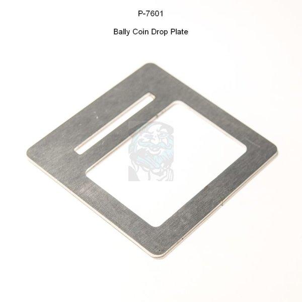 Bally Münzeinwurf Platte / Coin Drop Plate