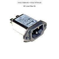 Power Line Filter mit IEC Steckverbinder