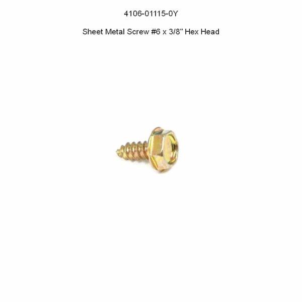 """Spielfeldschraube Hex Washer Head #6 x 3/8"""" yellow"""