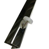 Abschlußleiste Spielfeldglas Edelstahl Spiegelglanz MM