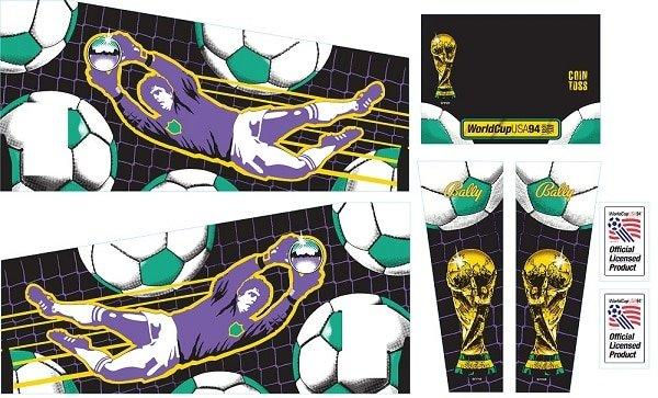World Cup Soccer Gehäuse Decal Set