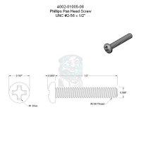 Philips Schraube #2/56 flacher Kopf - 1/2 in - 12,7 mm